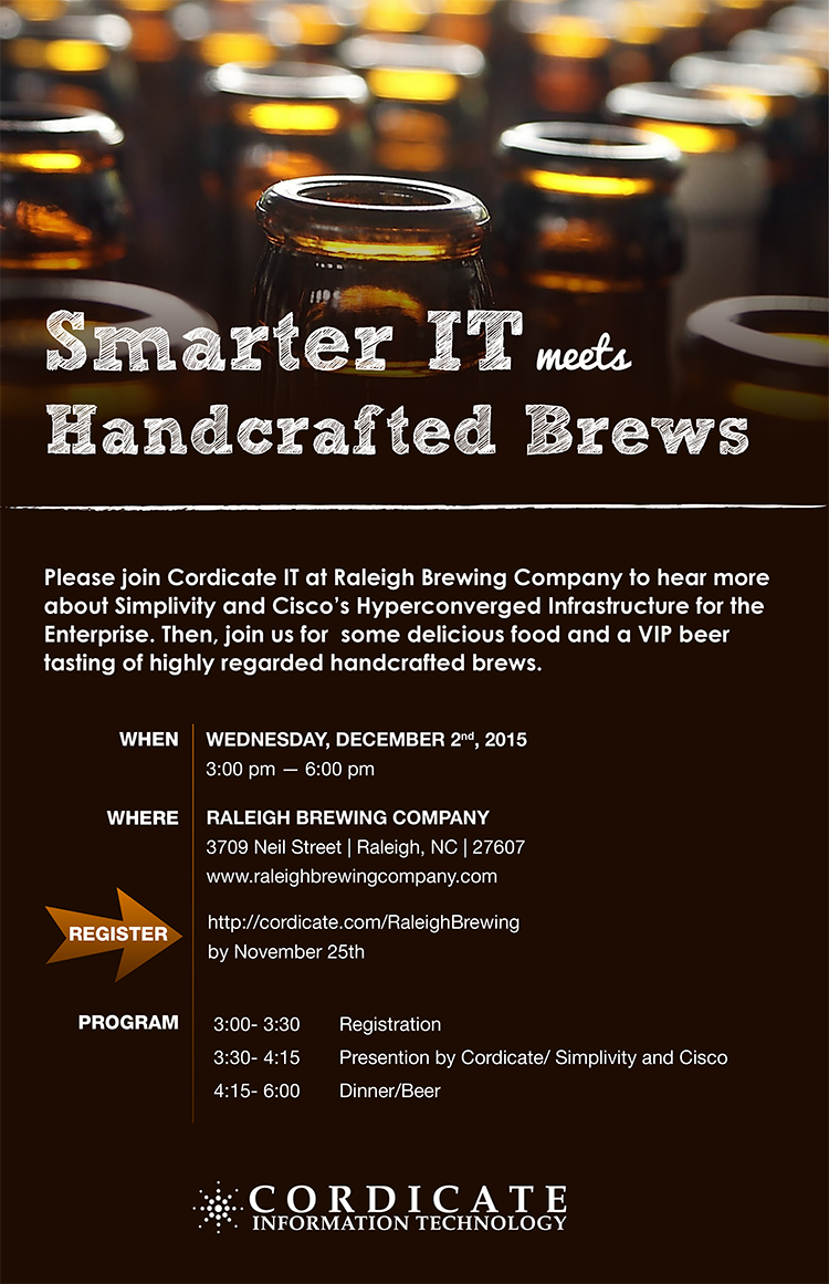 Raleigh Brewing Smarter IT meets Handcrafted Brews