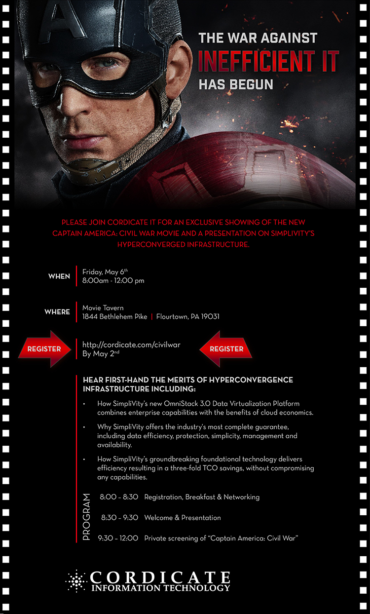 Captain America Civil War Cordicate IT Invite