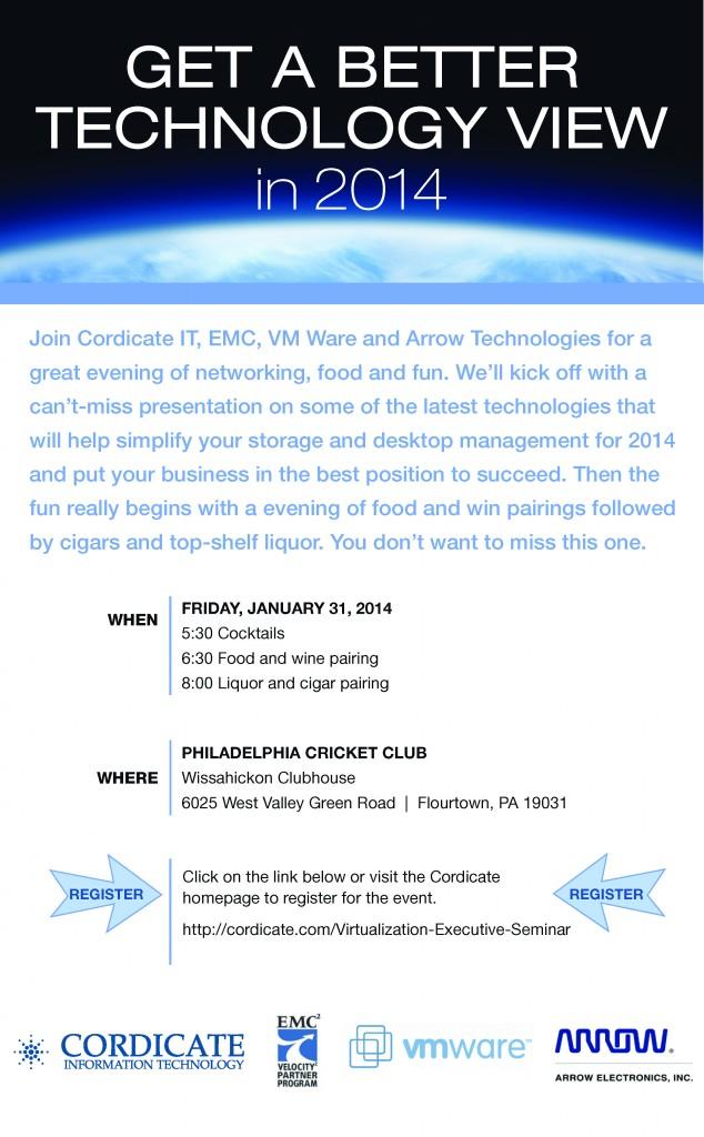 Virtualization Seminar | Cordicate IT VMware EMC Arrow