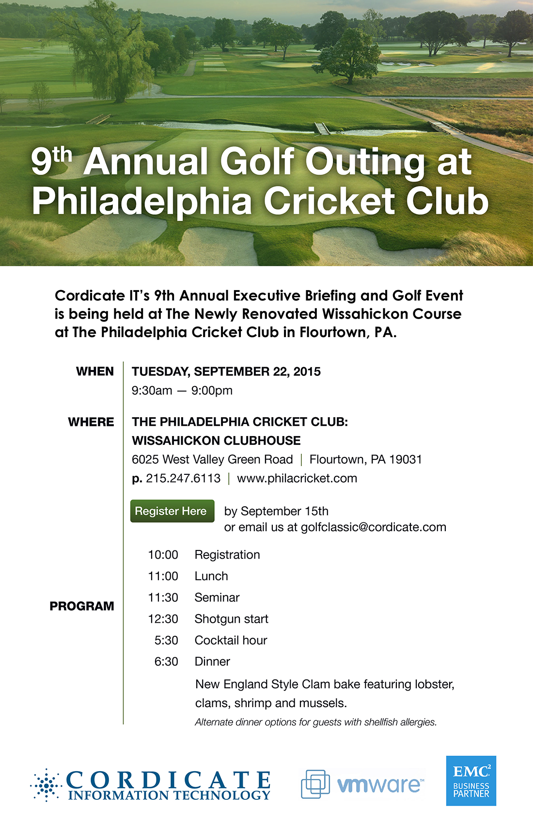 Cordicate IT Golf Outing 2015 Invite